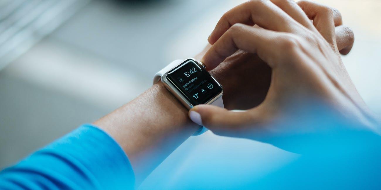 Apple Watch on display.