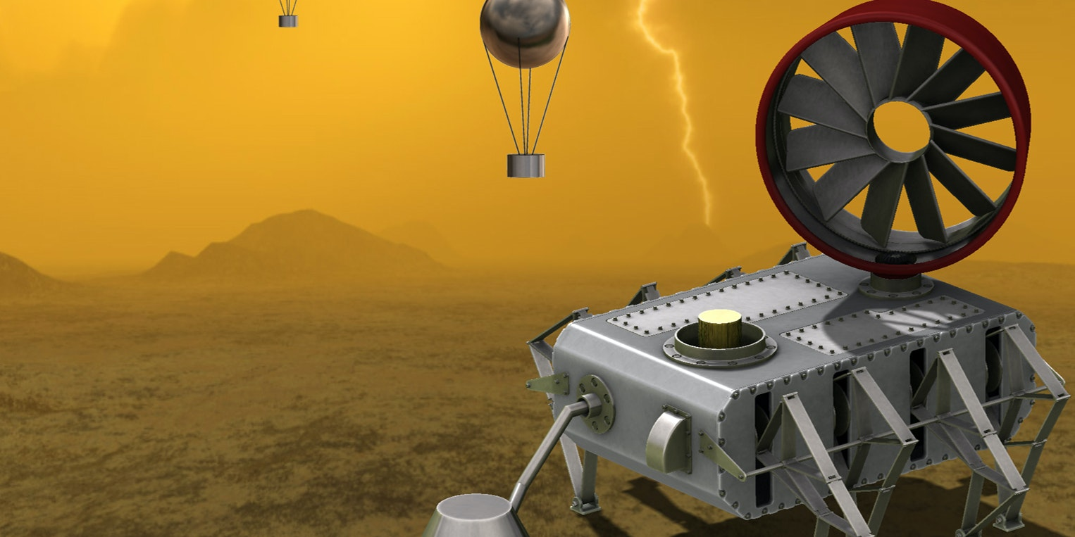 Jonathan Sauder's AREE rover had a fully mechanical computer and logic system, allowing it to function in the harsh Venusian landscape.