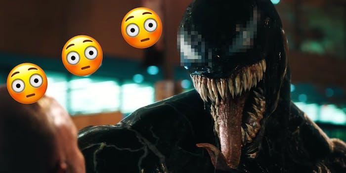 Venom's eyes look like cum.