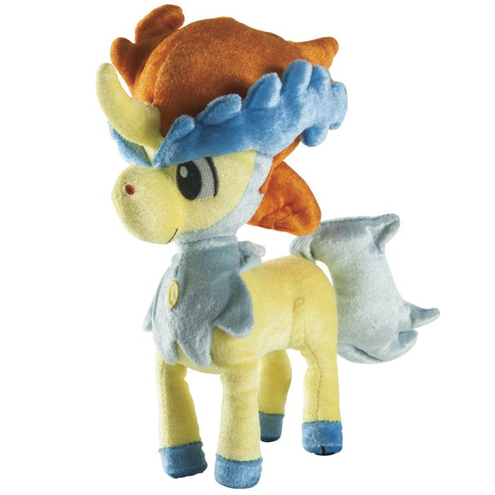 Keldeo's plush treatment is exceptionally shiny.