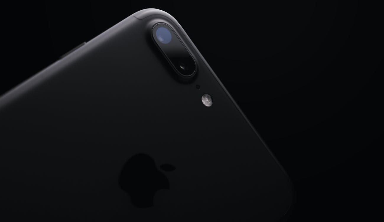 The iPhone uses a dual-lens camera on high-end devices.