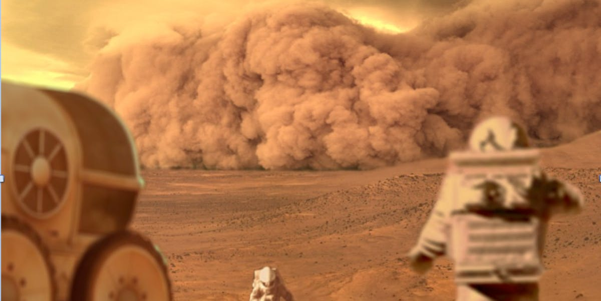 'The Martian' dust storm