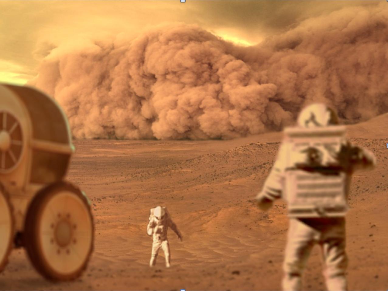 'The Martian' dust storm