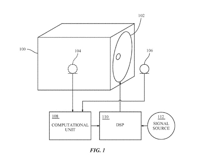 The system as it appears in the patent.