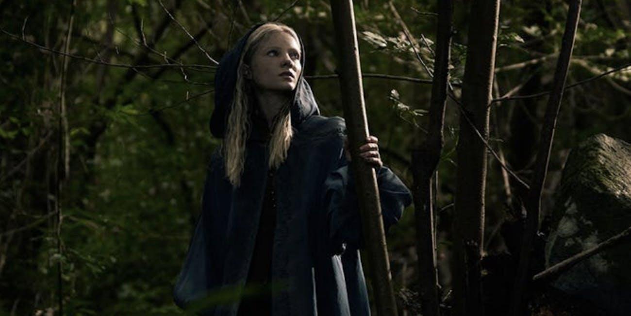 Freya Allan as Ciri on Netflix's The Witcher