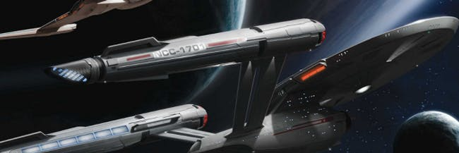 "Concept art for the USS Enterprise on 'Star Trek: Discovery' in the ""Ships of the Line"" calendar."