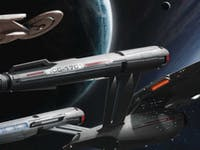"""Concept art for the USS Enterprise on 'Star Trek: Discovery' in the """"Ships of the Line"""" calendar."""