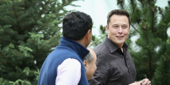 SUN VALLEY, ID - JULY 08:  Elon Musk, CEO and CTO of SpaceX, CEO and product architect of Tesla Motors, and chairman of SolarCity, attends the Allen & Company Sun Valley Conference on July 8, 2015 in Sun Valley, Idaho. Many of the worlds wealthiest and most powerful business people from media, finance, and technology attend the annual week-long conference which is in its 33nd year.  (Photo by Scott Olson/Getty Images)