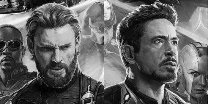 Iron Man Captain America Avengers Infinity War