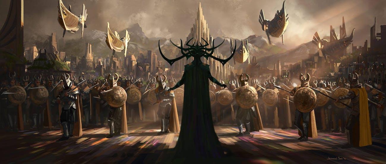 Hela in Taika Watiti's 'Thor Ragnarok' concept art