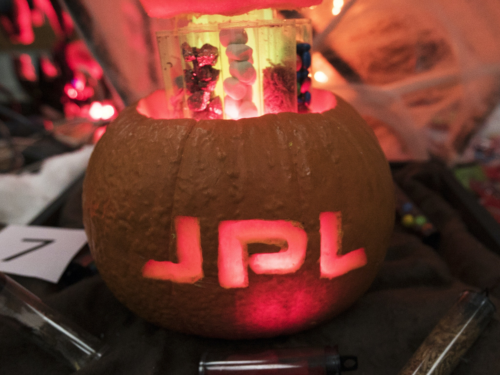 NASA has the right stuff when it comes to carving pumpkins.