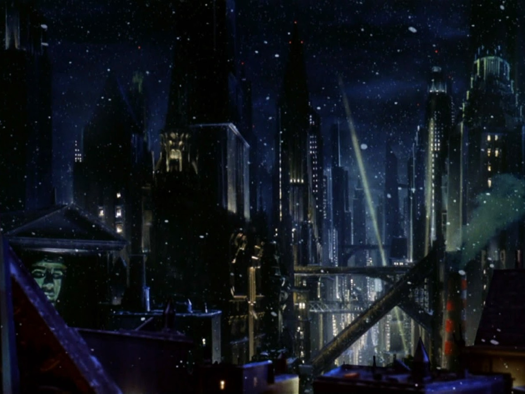 The Gotham of 'Batman Returns' was made possible with miniatures and matte paintings, just as digital effects was also becoming more widespread.