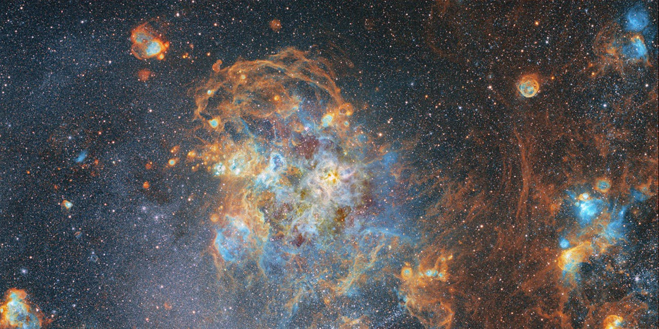 View of the Large Magellanic Cloud