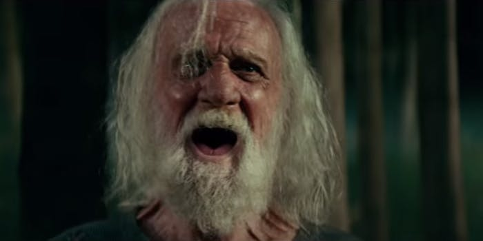 'A Quiet Place' old man yelling
