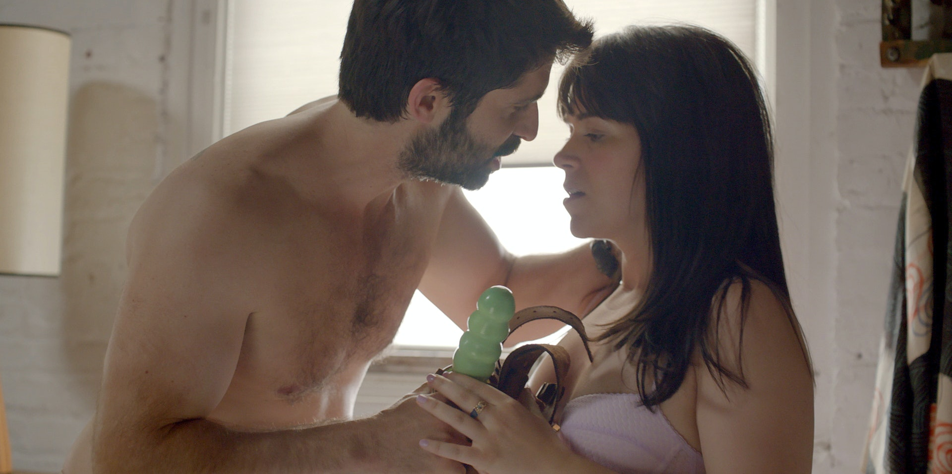 In a Season 2 episode of 'Broad City,' Abbi's neighbor asks her to peg him with a dildo.