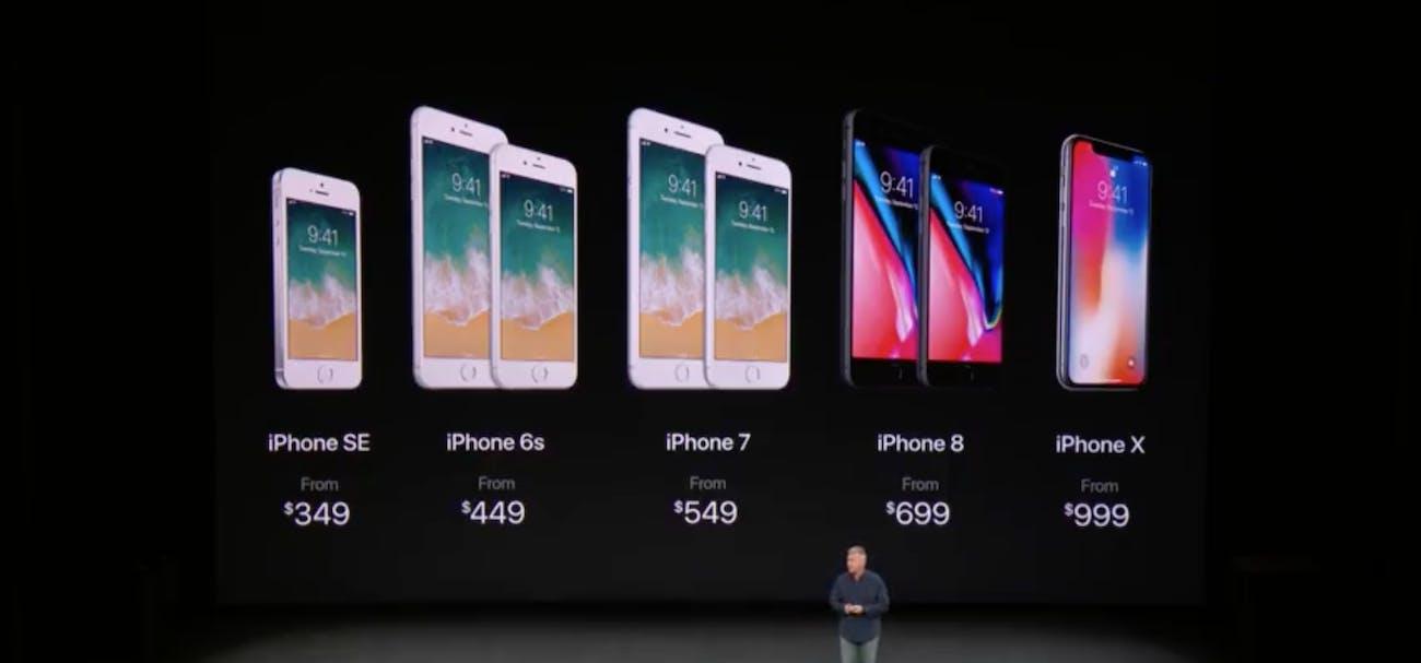 iPhone lineup.