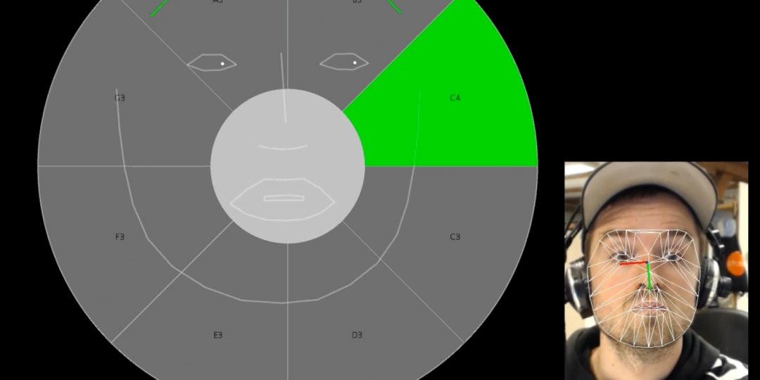 Refsgaard sampling his own Eye Conductor