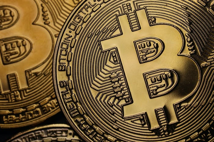 A visual representation of the digital Cryptocurrency, Bitcoin on October 23, 2017 in London, England.