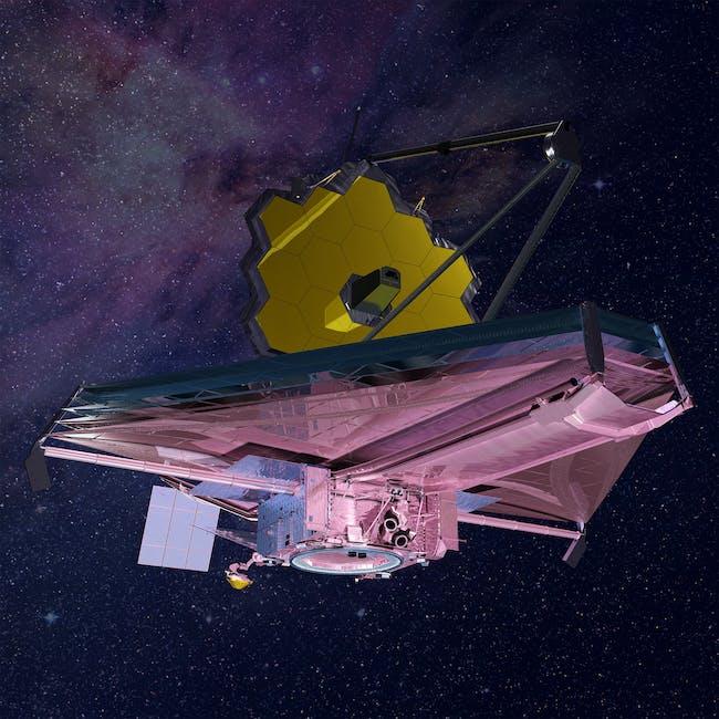Artist rendering of the James Webb space telescope.