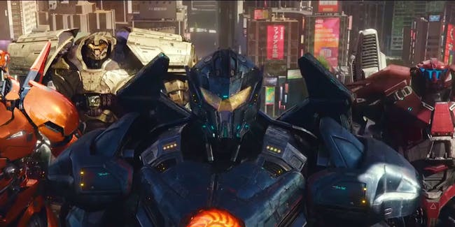 The Jaegers of 'Pacific Rim Uprising'.