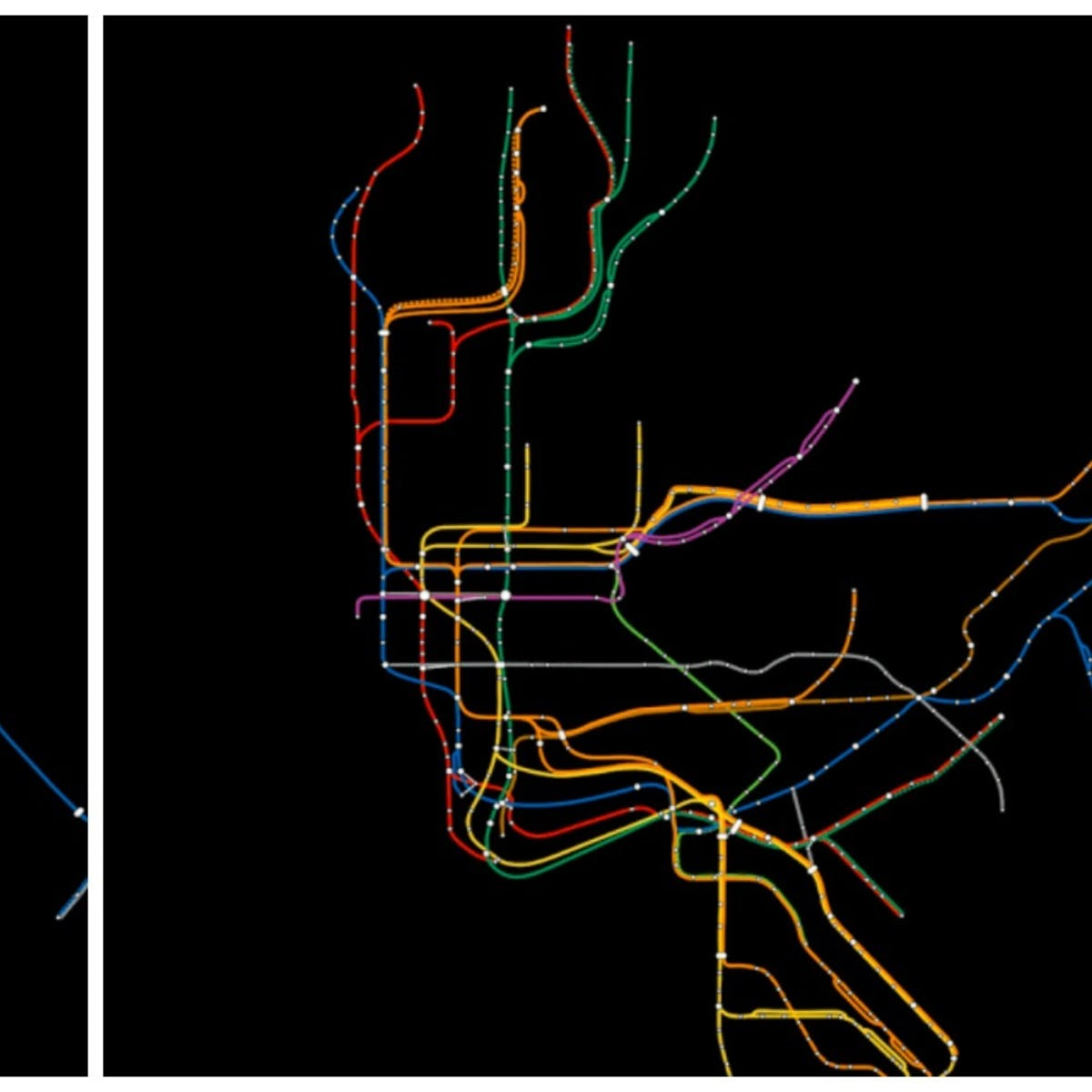 Simplified New York Subway Map.These Visualizations Show The Gap Between Maps And Reality Inverse
