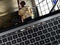 MacBook touch bar.