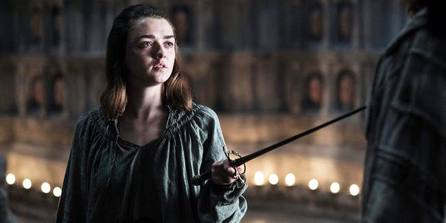 Arya Stark ranks alongside the majority of the cast as attractive and at least somewhat good.