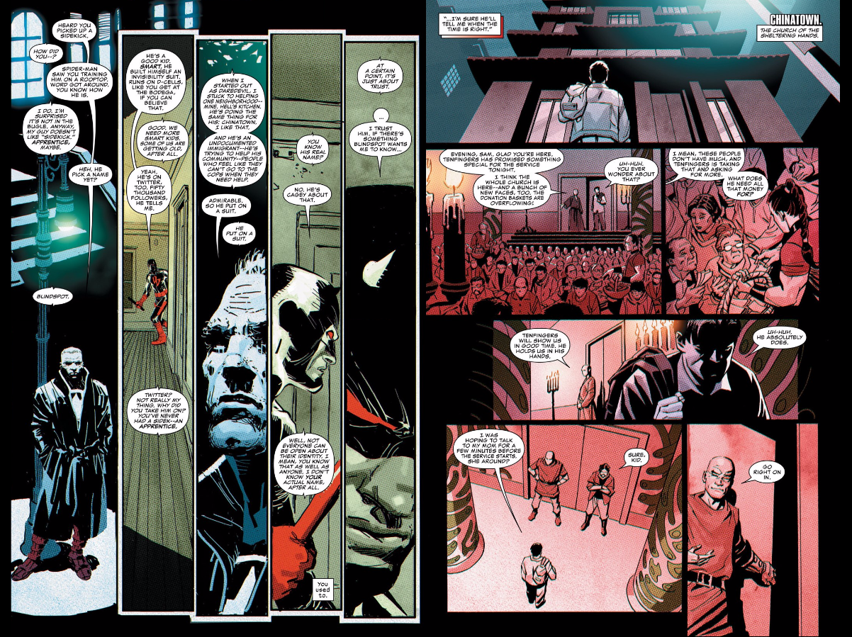 Captain America makes a guest appearance, acting as a sounding board for Daredevil in issue #4.