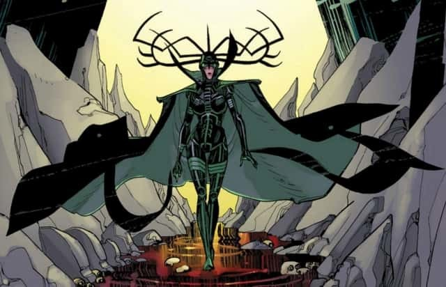 Hela in the comics looks a lot like Hela in the movie.