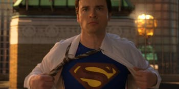 Tom Welling as Clark Kent in one of the final shots from 'Smallville.'