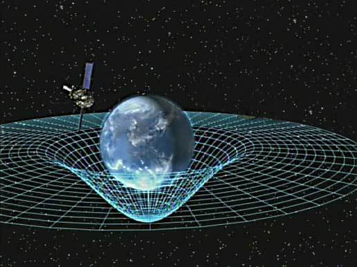 An artist's conception of gravitational waves