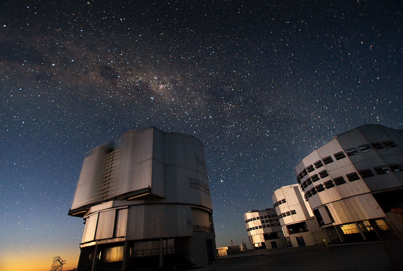The Very Large Telescope (VLT) at ESO's Cerro Paranal observing site.