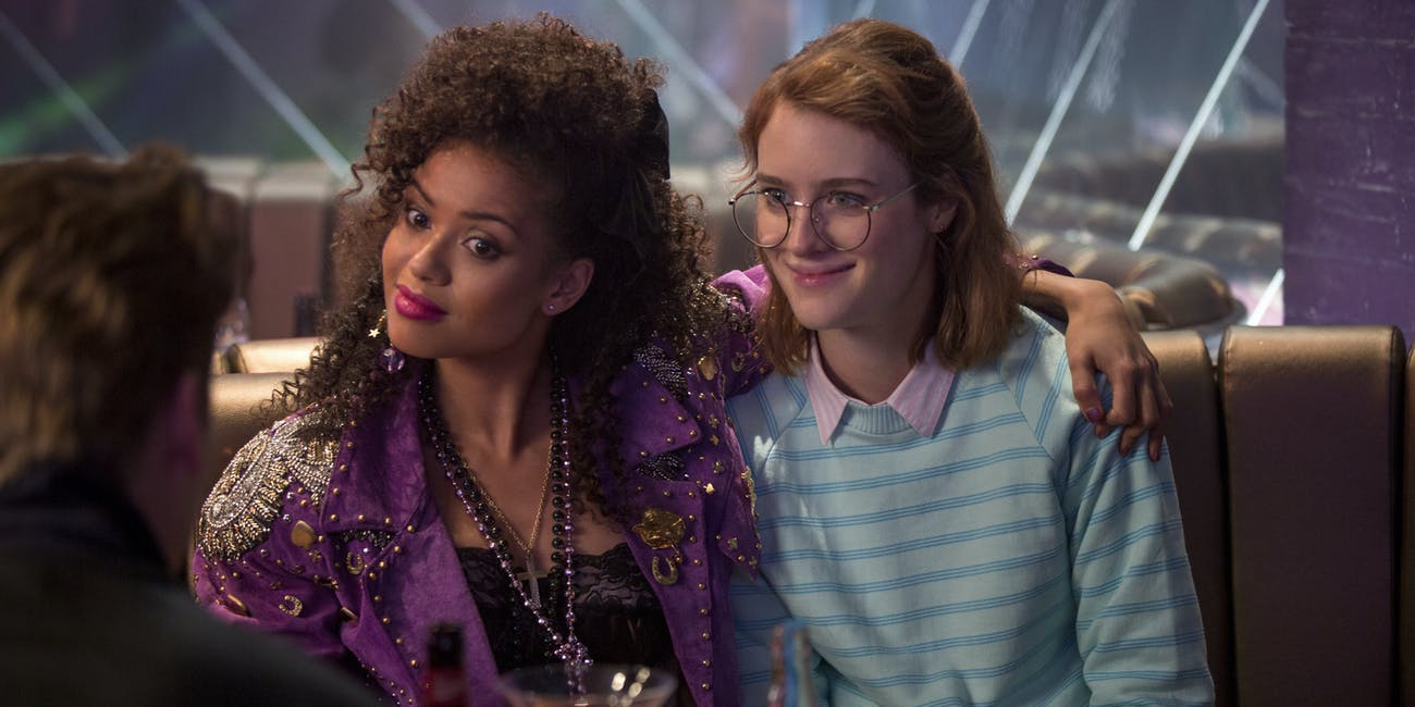 "Gugu Mbatha-Raw and Mackenzie Davis in the ""San Junipero"" episode of  'Black Mirror'"