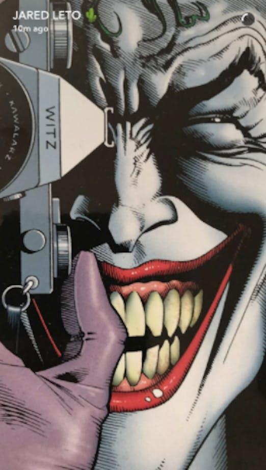 Jared Leto Reminds Snapchat That Batfleck Knocked Joker's