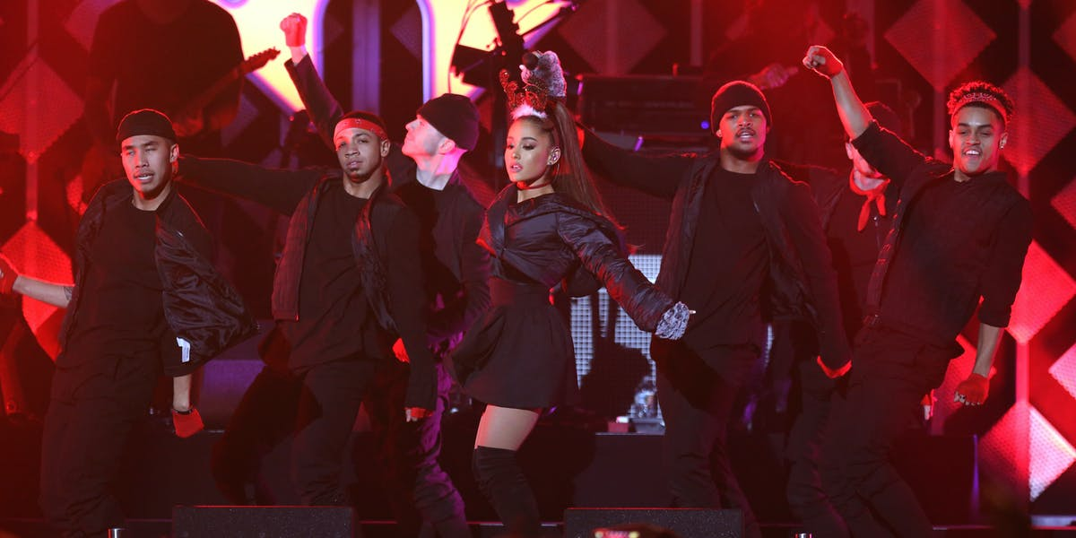 ATLANTA, GA - DECEMBER 16:  Ariana Grande performs onstage during Power 96.1's Jingle Ball 2016 at Philips Arena on December 16, 2016 in Atlanta, Georgia.  (Photo by Catrina Maxwell/Getty Images for iHeart)