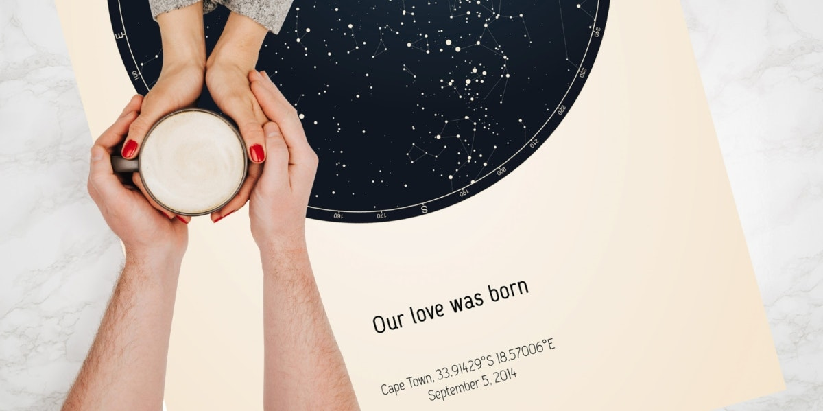 Commemorate Life's Special Moments With a Custom Star Map From Strellas