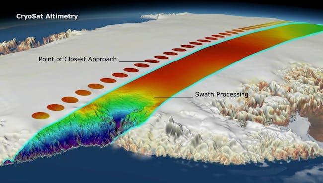 ESA cryosat glacier map tracking climate change