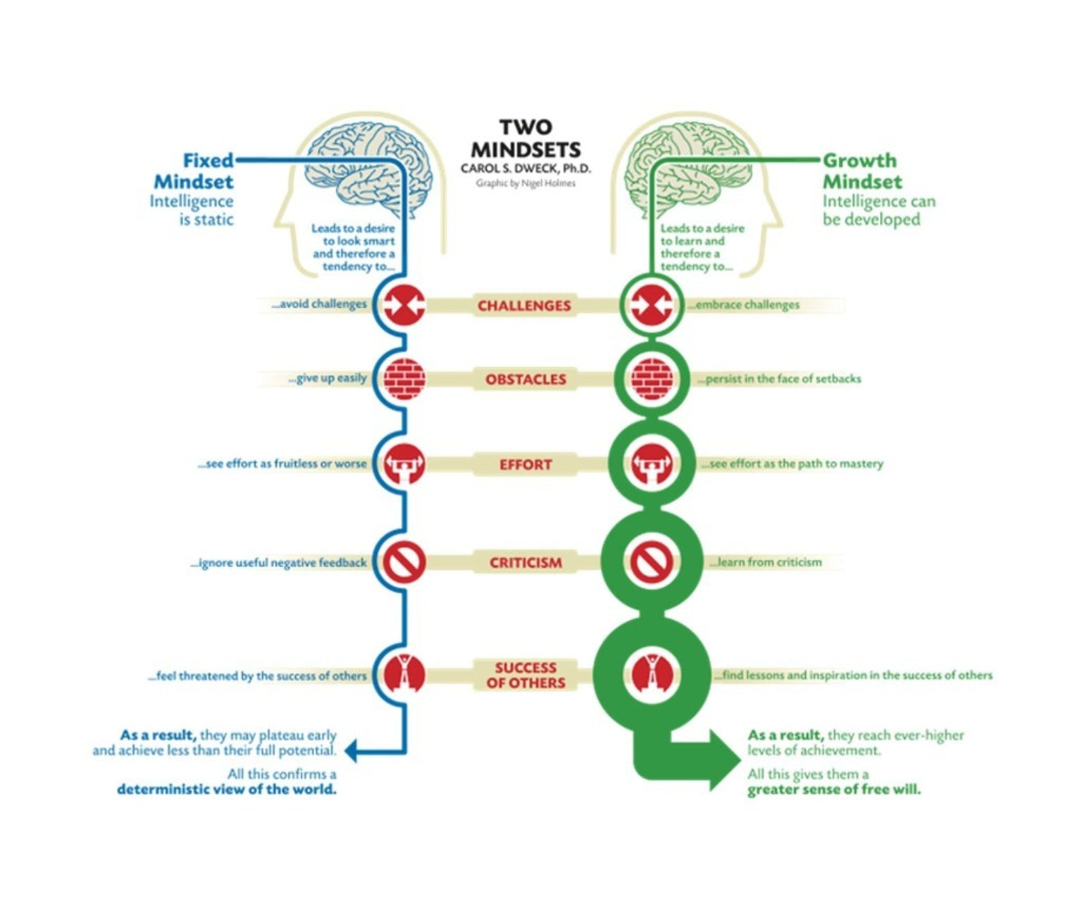 A look at the fixed versus growth mindset, as defined by Dweck.