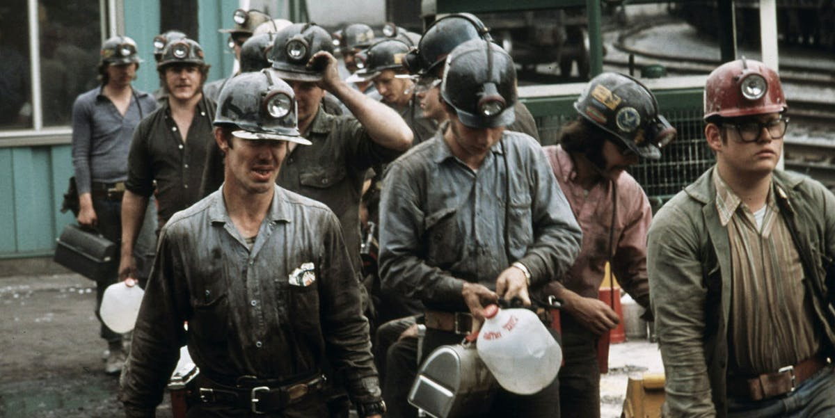 West Virginia's coal industry has declined in part due to competition with less labor-intensive operations to the west.