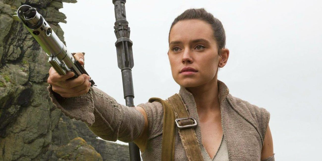 Rey in 'Star Wars: The Force Awakens'.