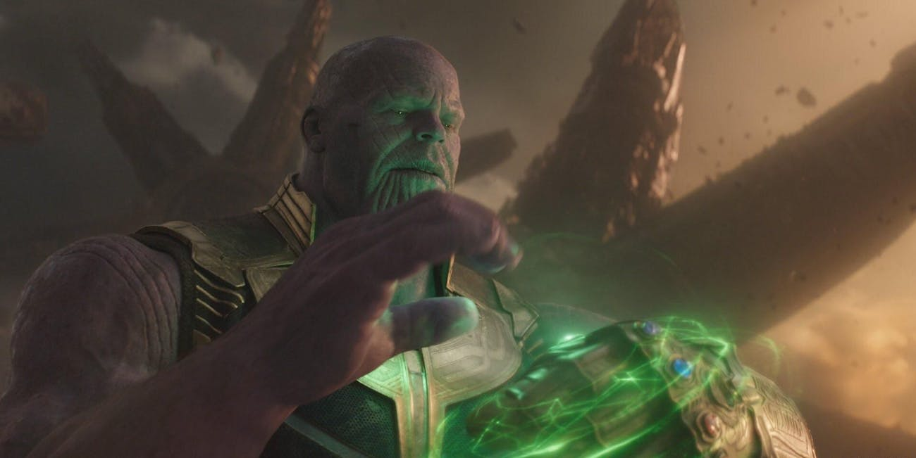 Thanos retrieves the Time Stone in 'Avengers: Infinity War'.