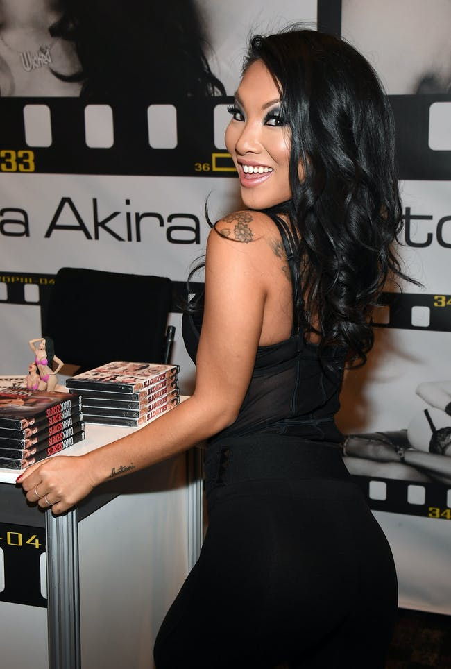 LAS VEGAS, NV - JANUARY 18: Adult film actress/director Asa Akira appears at the Wicked Pictures booth at the 2017 AVN Adult Entertainment Expo at the Hard Rock Hotel & Casino on January 18, 2017 in Las Vegas, Nevada. (Photo by Ethan Miller/Getty Images)