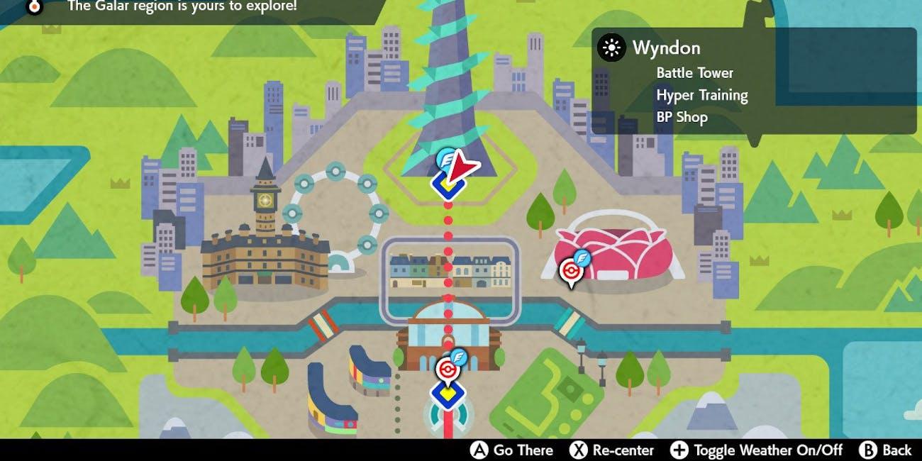 Pokemon Battle Tower Sword and Shield