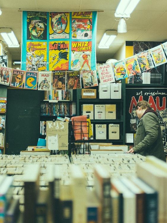 Browsing comics