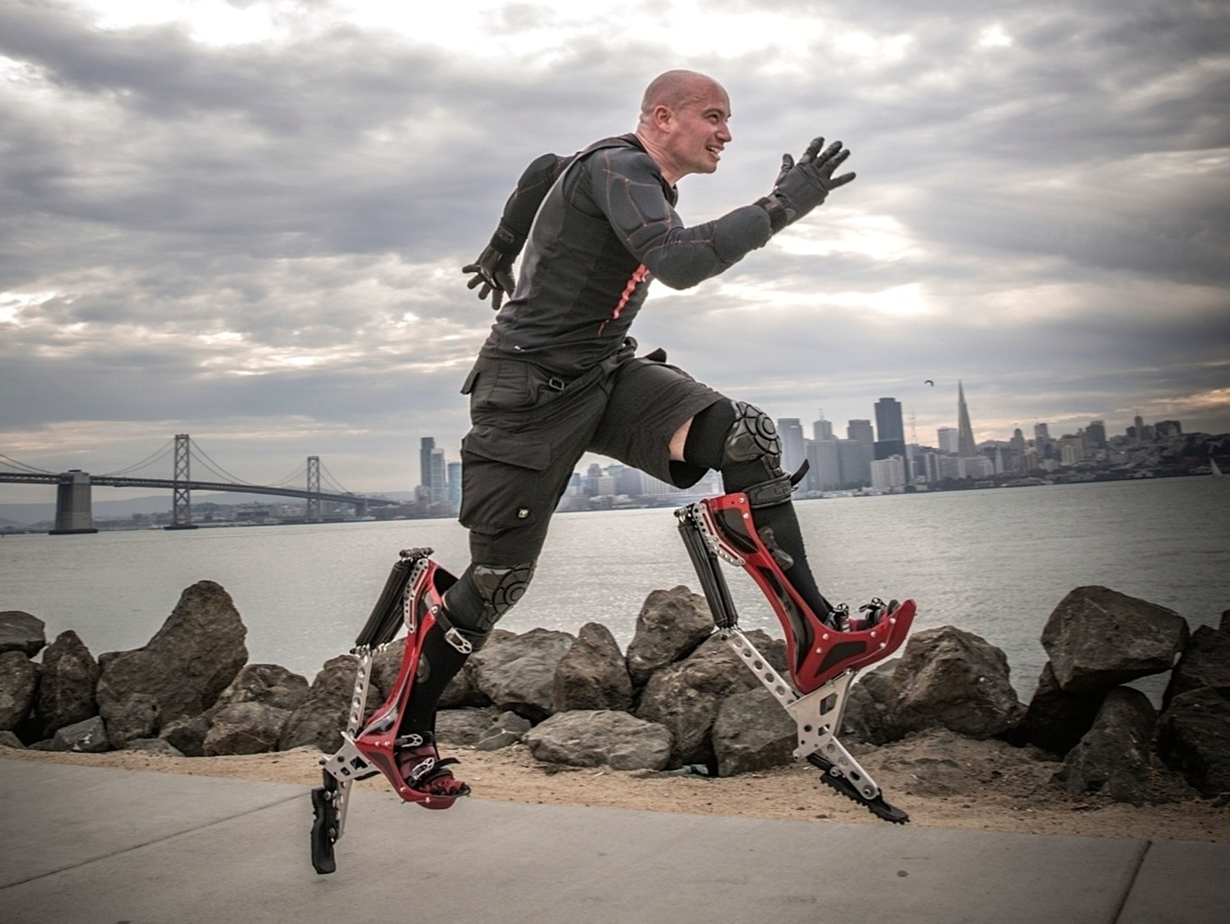 The Bionic Boots worn by Keahi Seymour, inventor.
