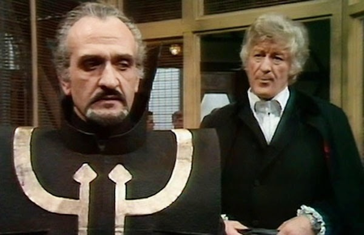 Roger Delgado as the Master vs. Jon Pertwee as the Doctor