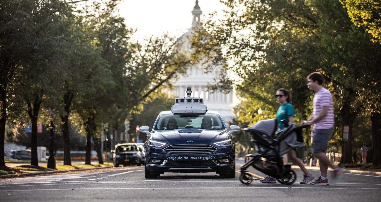 Ford's autonomous car in D.C.