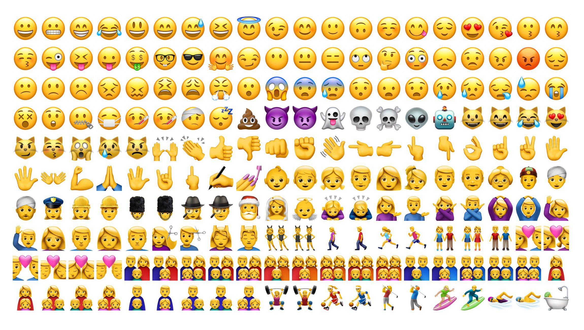 Here are some of the emoji that look different in iOS 10.
