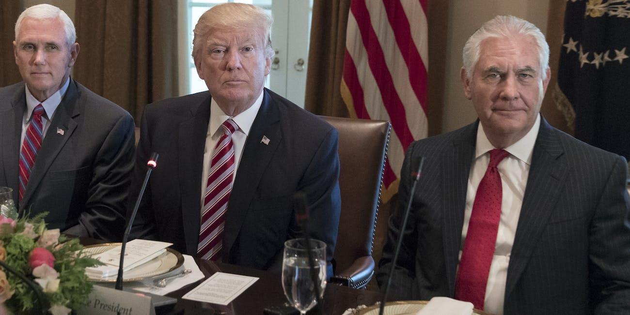 Trump makes an IQ jab at Tillerson.