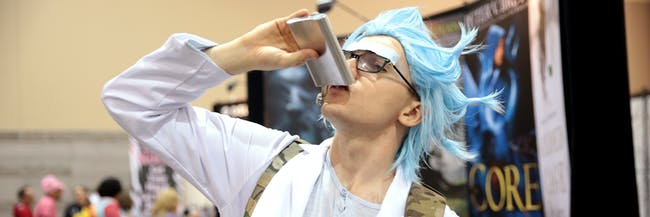 Rick Sanchez cosplayer